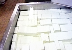 木綿豆腐のできあがり